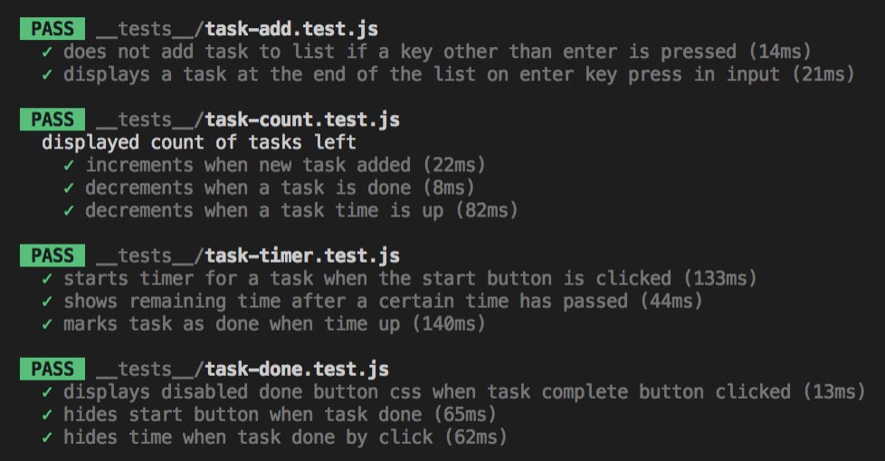 Timed To-do App Tests